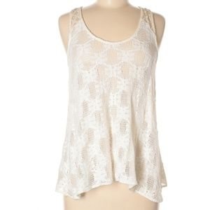 Anthropologie Deletta Lace Sheer Tank